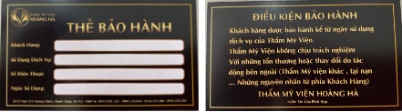 Thẻ bảo hành dịch vụ tại Dr Hoàng Hà