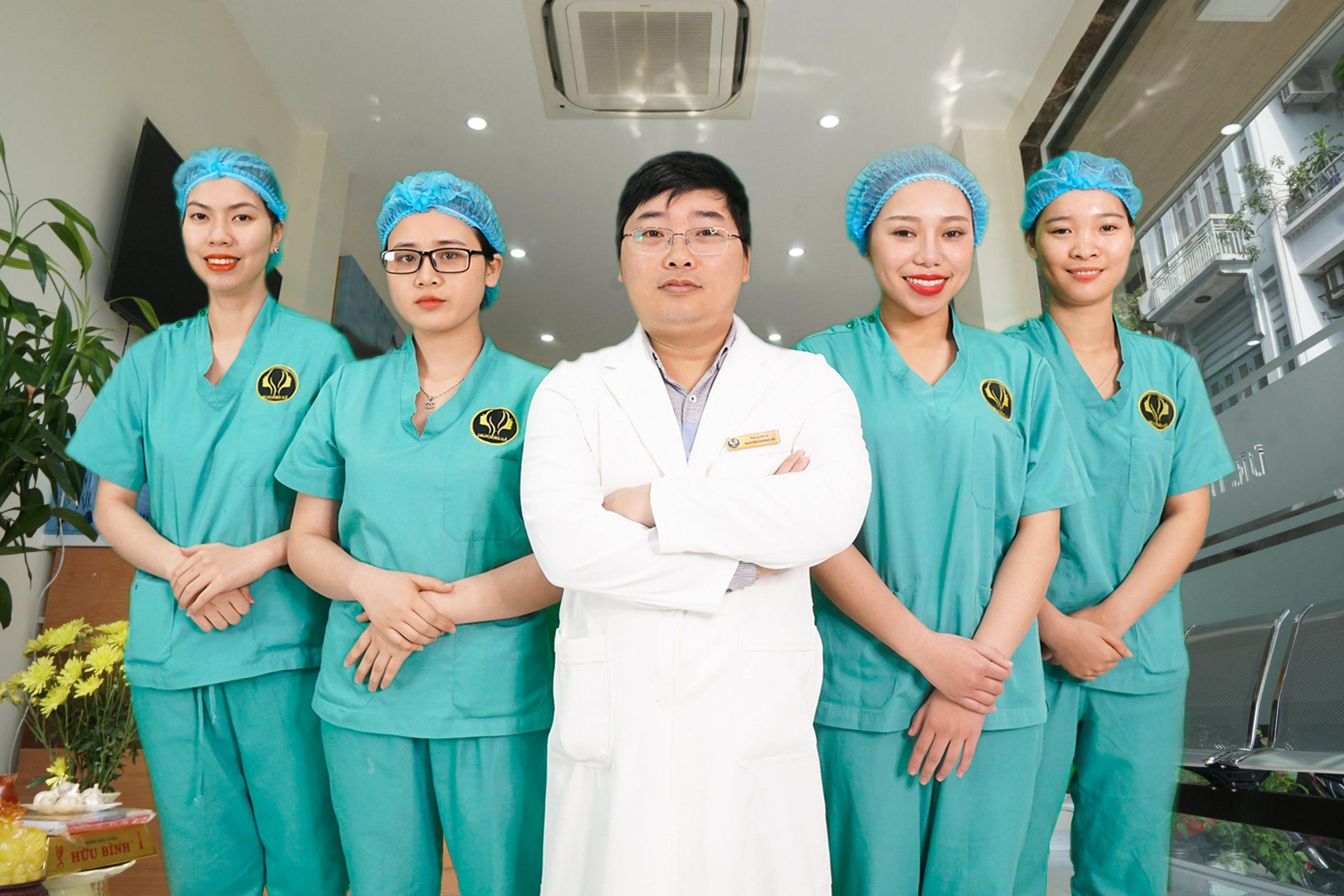Đội ngũ Ekip PT của Dr Hoàng Hà được đào tạo chuyên sâu, có nhiều năm gắn bó với nghề