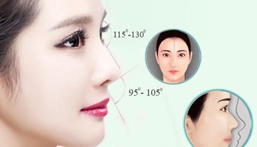 Tỉ lệ chuẩn của dáng mũi L-line