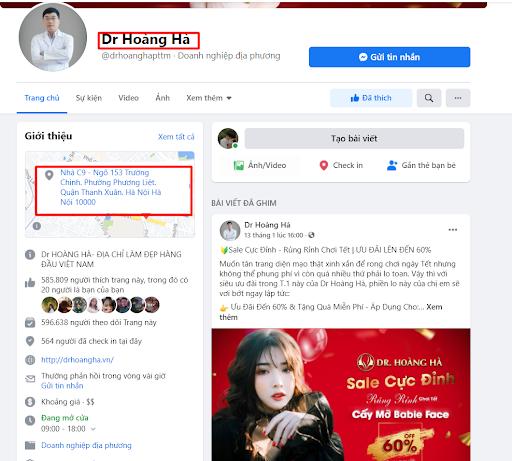 Like và theo dõi fanpage Dr Hoàng Hà để nhận ưu đãi